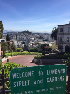Lombard Street takes San Fransisco's classic steep streets and raises the bar by including eight hairpin turns. (photo by Sofie DeWulf)